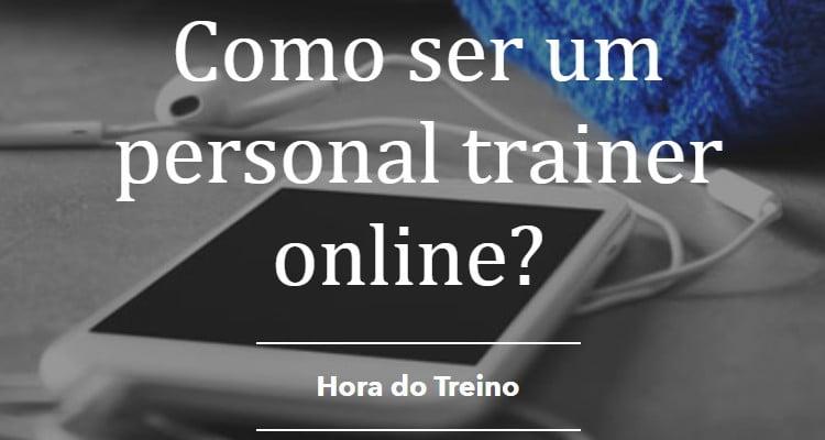 como ser um personal trainer online