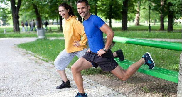 treino no parque