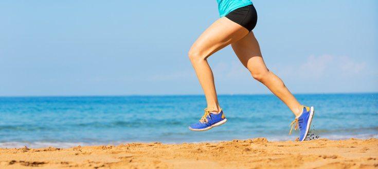 cuidados de correr na areia