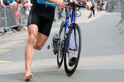 treino de um triatleta
