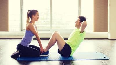 exercício em dupla