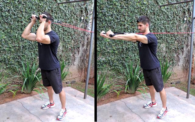 exercício de tríceps em casa