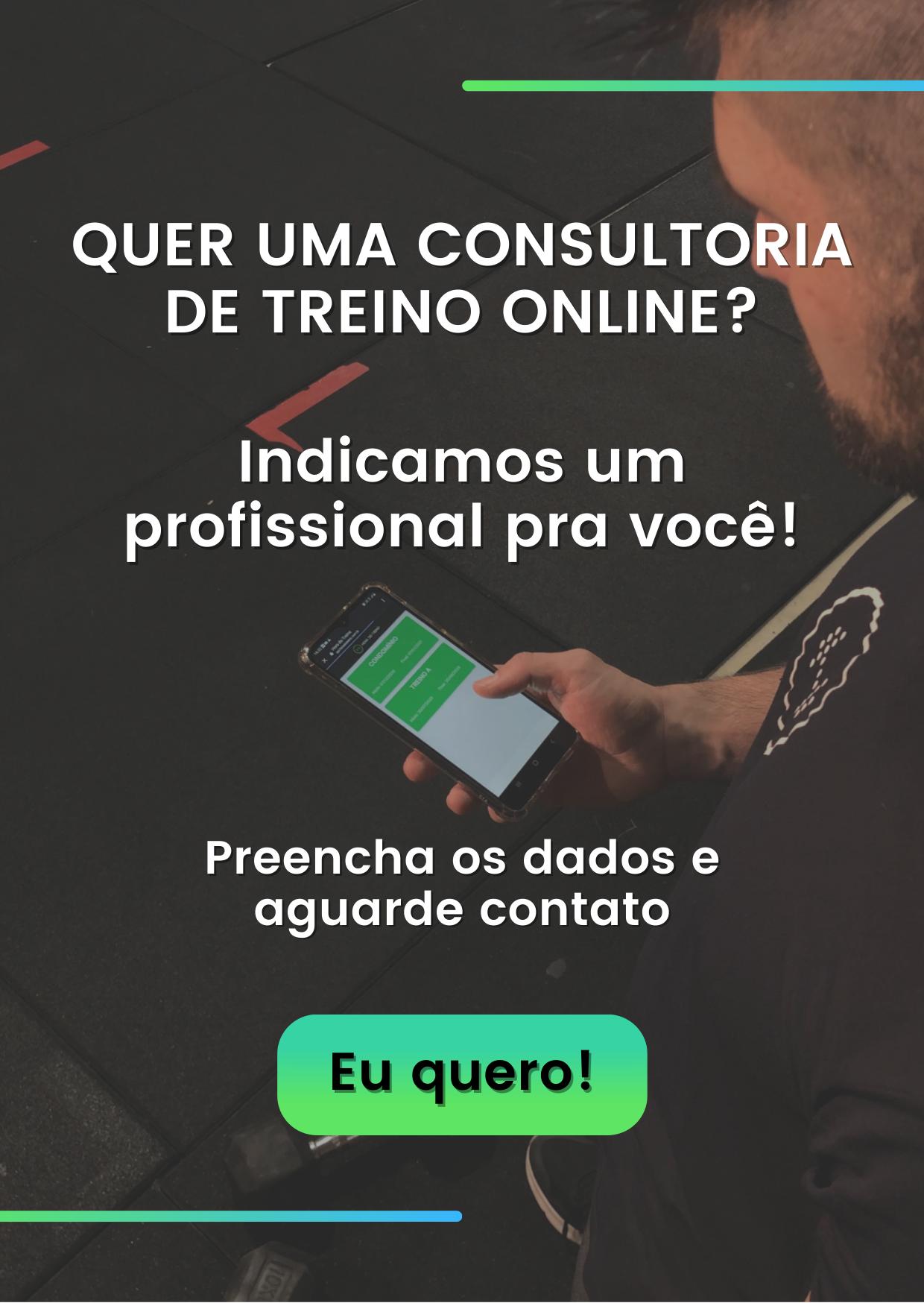 quer uma consultoria de treino online